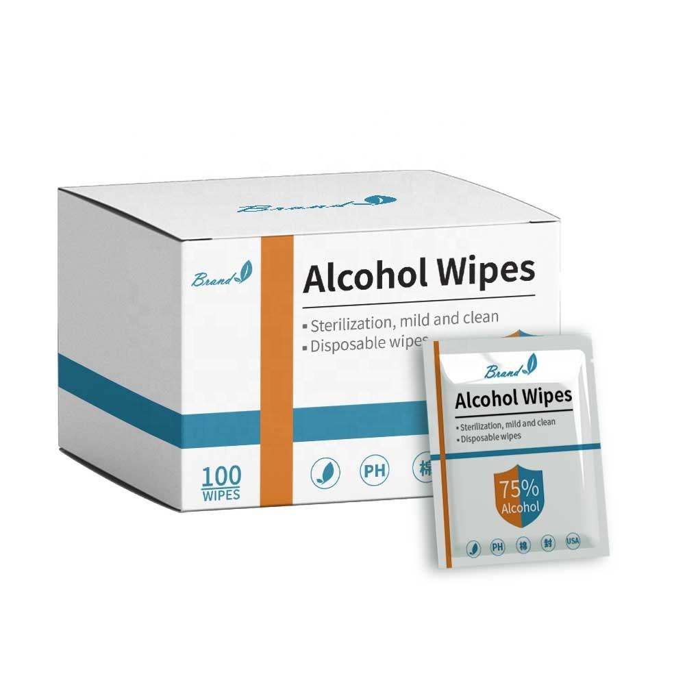 individually wrapped customized logo single use hand sanitizing wipes