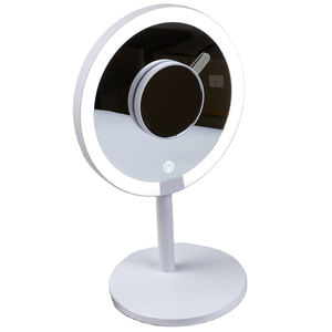 custom private label portable beauty cosmetic vanity desktop mirror touch screen led light illuminated smart makeup mirror
