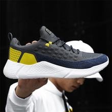 Cheap comfortable branded fly weaving upper casual sneaker new style mens sport shoes running