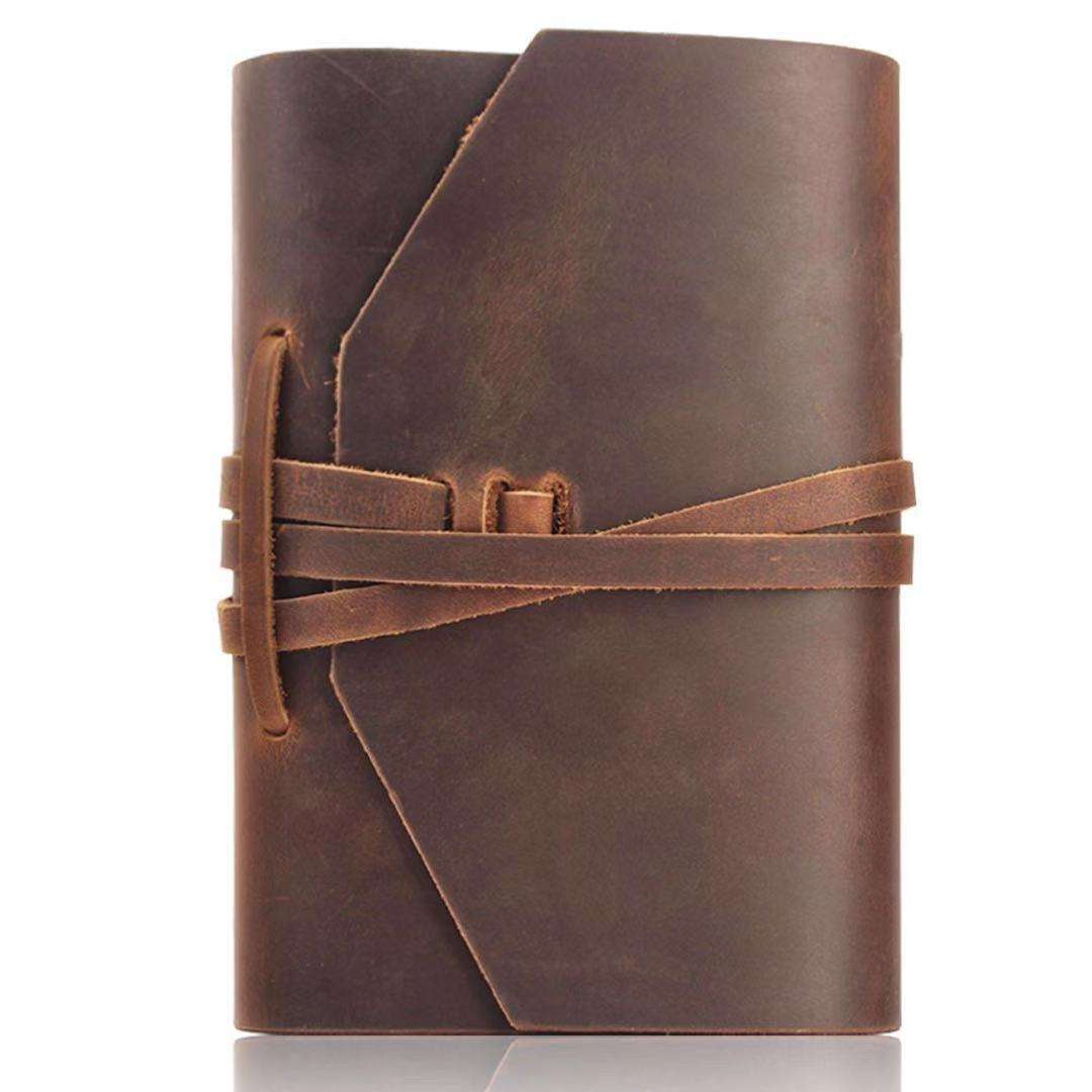 Replaceable Inner Brown Crazy Horse Real Leather Planner Refill Leather Journal cover Vintage Traveller Genuine Leather Notebook