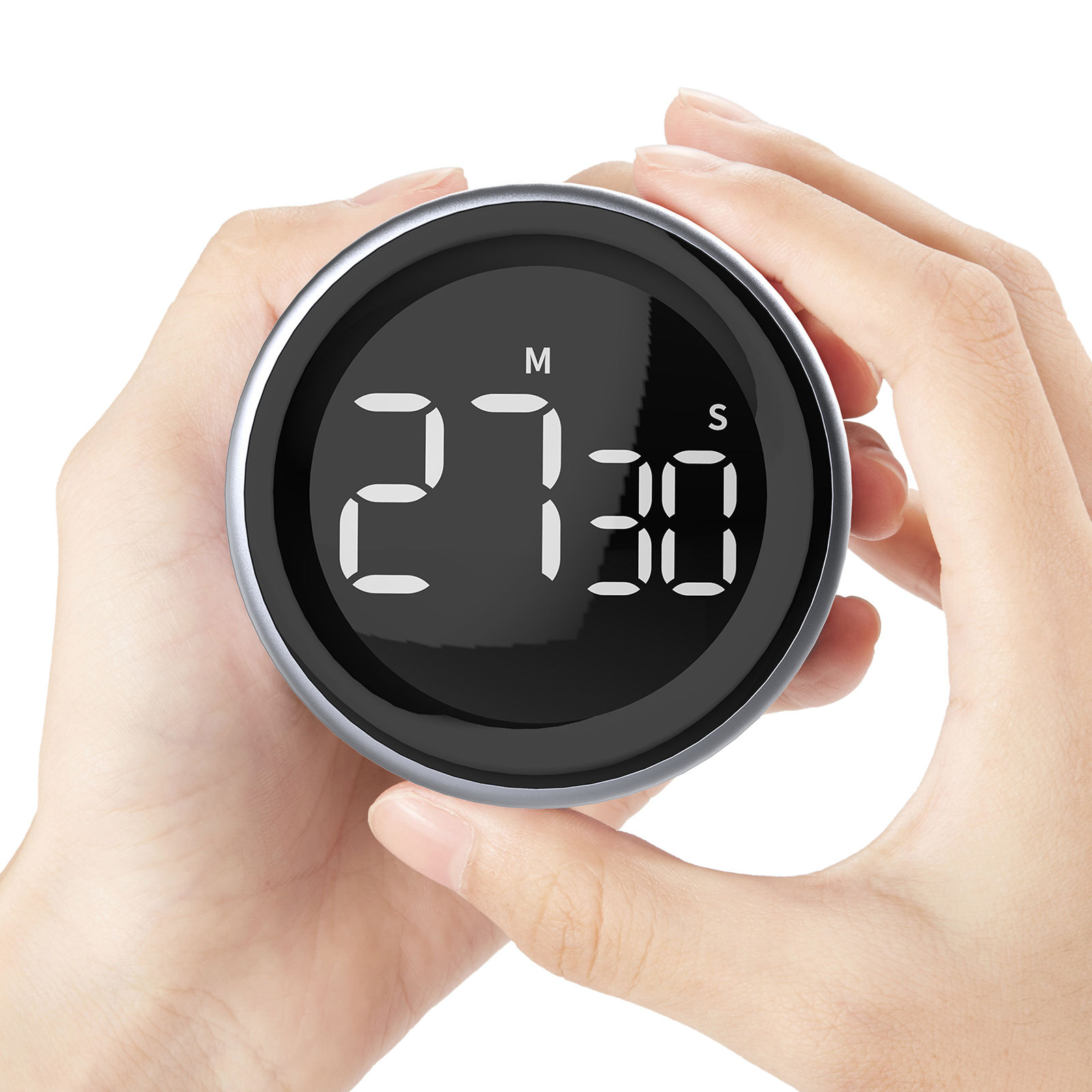 NEW Arrival HAPTIME Knob Digital Kitchen Countdown Timer Magnetic LCD Large Display Countdown Timer