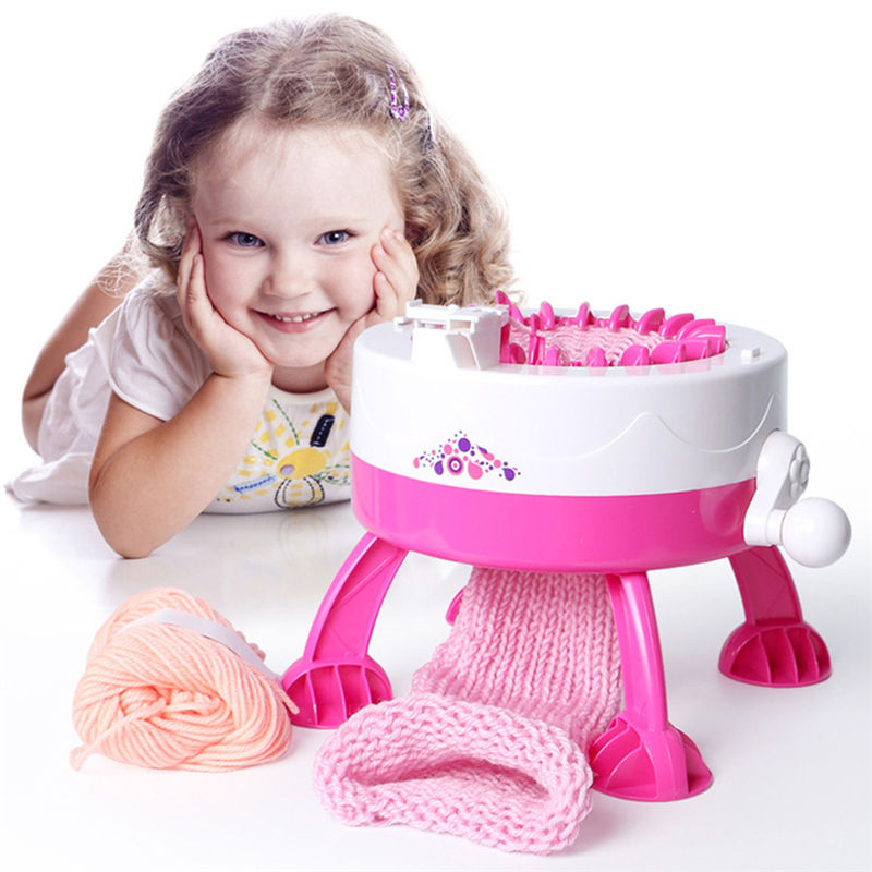 Kinder Stricken Maschine Kit hand automatische DIY schal hut regenbogen stricken maschine Weben Webstuhl stricken Pädagogisches Spielzeug für Kinder