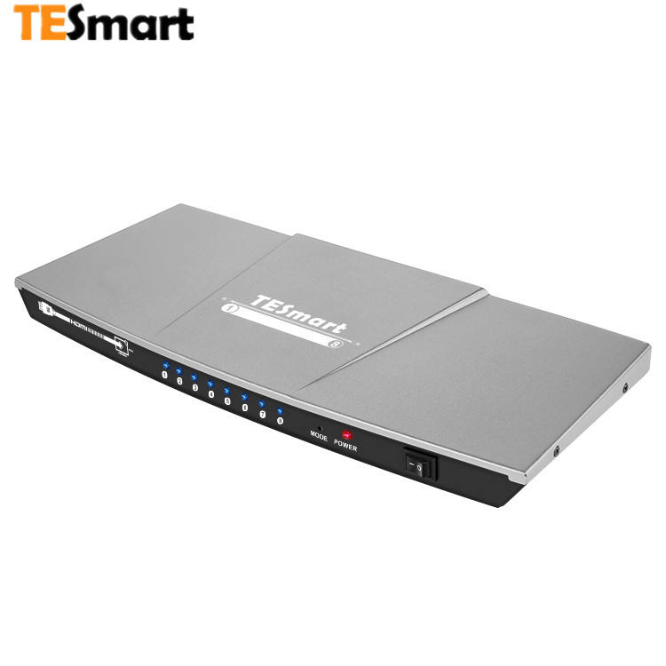 Tesmart Audio Profesional, video 4K 1X8 8 Port Hdmi Splitter 1 In 8 Keluar Splitter Hdmi Splitter