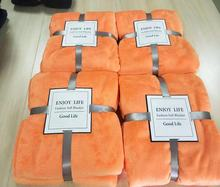 Customized Wholesale cheap super soft  solid colors  China  Coral flannel  Fleece Blankets in bulk