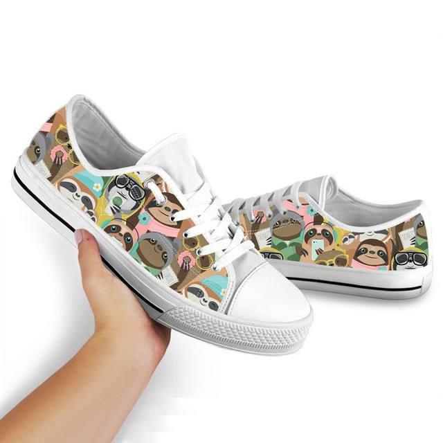 Women Espadrilles Cute Cartoon Animal Sloth Print Comfortable Soft Walking Outdoor Custom Casual Shoes Women's Fashion Sneakers