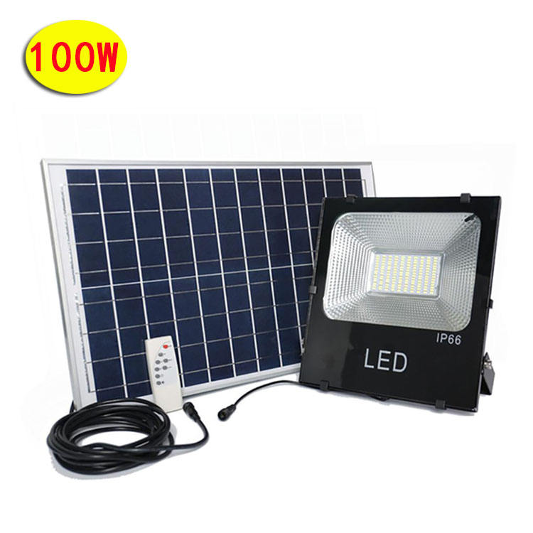 100W Led Lights Tennis Court Projector Lamp Ip66 Pir For Wall Gas Station Wiring Diagram Power Long Range Solar Flood Light