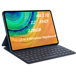 12 inch tablet 2 in 1 tablet pc with keyboard for student on