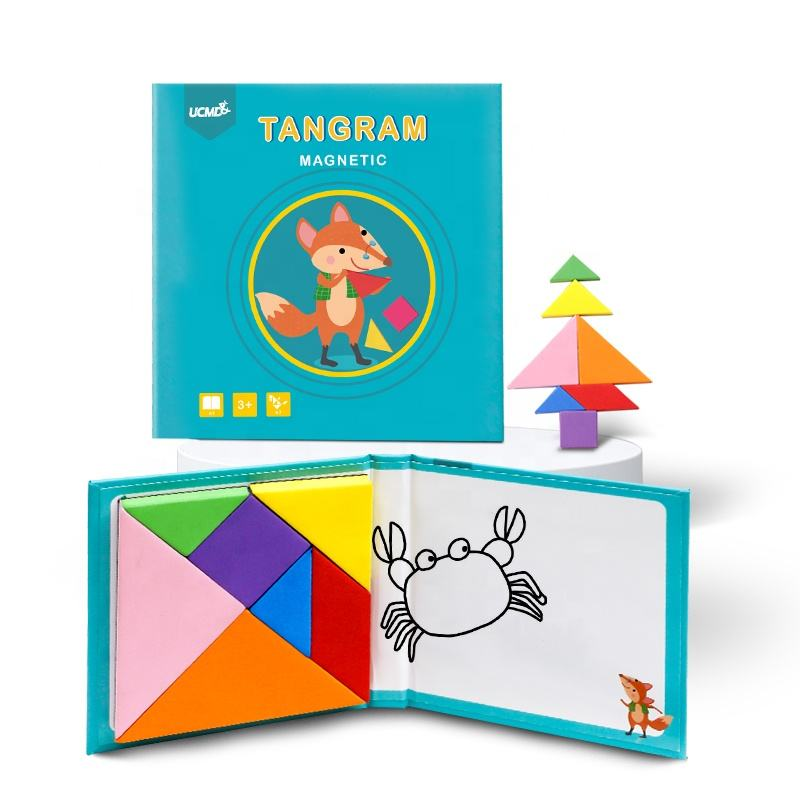 UCMD New Design Kids Play Games Intelligent Toy Seven Piece Puzzle mini Magnetic Tangram