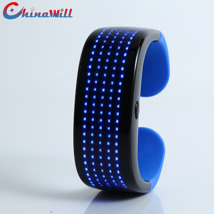Men and Women LED Wristband Magic Party Glow Luminous Strip Rave Bracelet Colorful Screen Flash Fast