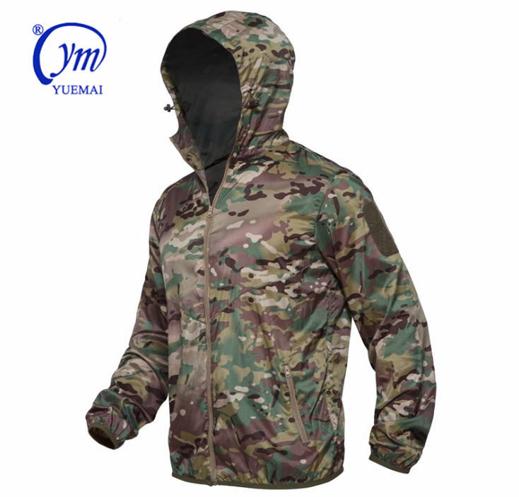 Spring Summer Jackets Windbreaker Ultra-light Skin Jackets Men Hooded thin Casual Jackets military uniform summer clothes