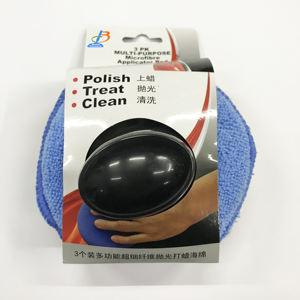 3pcs Microfibra polaco esponja espuma Aplicador cera limpieza de coches