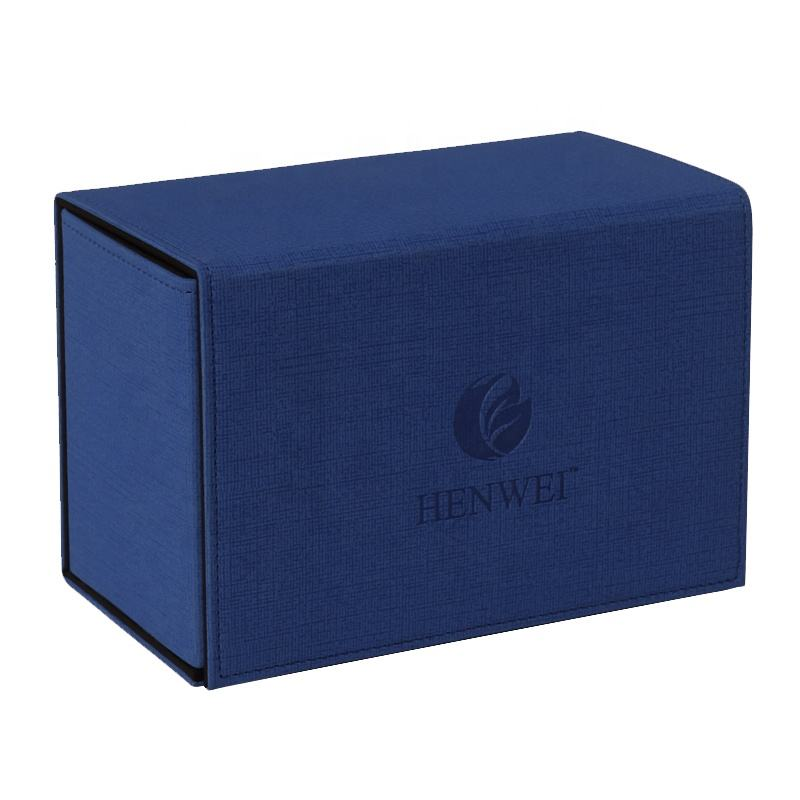 Wholesale HENWEI jeu de table PU leather Cover Cards Deck Box For The Board Game