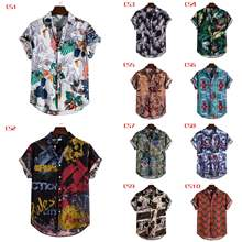 New Arrival High Quality Men Casual Summer Printed Button Down Short Sleeve Shirt