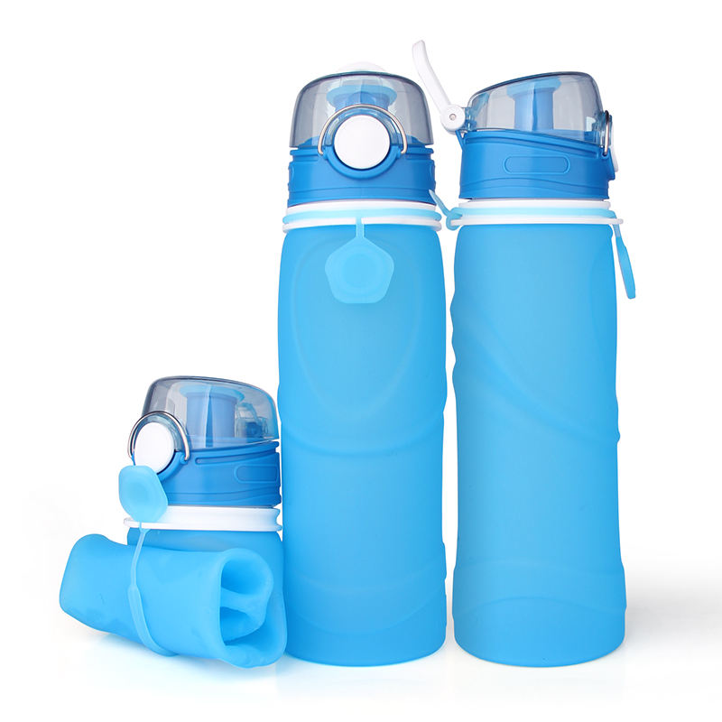 Sport Bottle [ Water Bottle ] Silicone Water Bottle 750Ml Leakproof Collapsible Reusable Foldable Sport Silicone Water Bottle