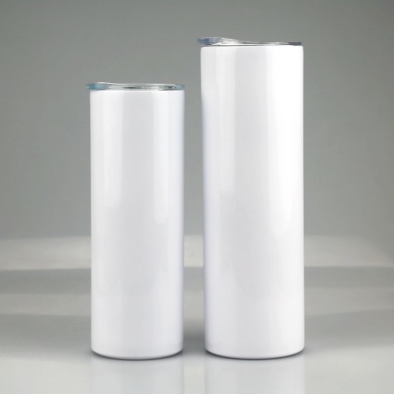 20oz 30oz stainless steel tumbler straight skinny double wall coffee cup insulation vacuum straight skinny cup for sublimation
