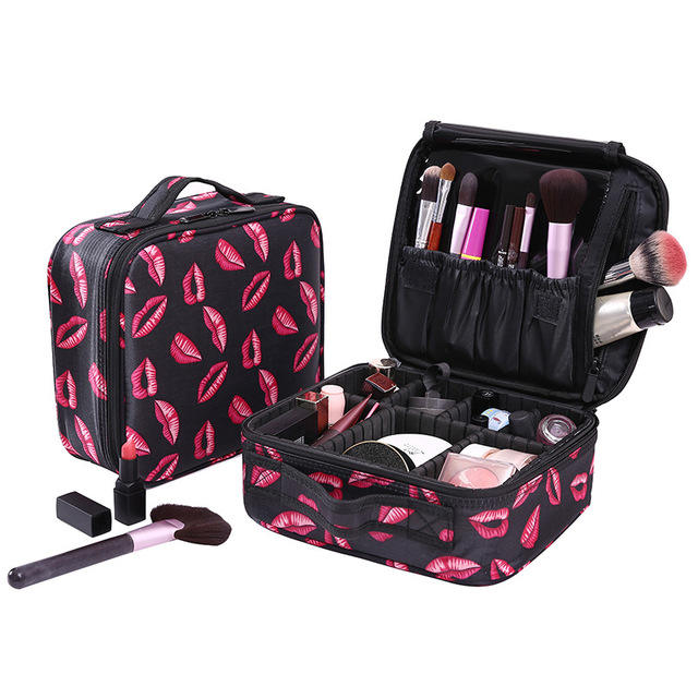 Custom Professional Oxford Makeup Bag Cute Cosmetic Travel Case