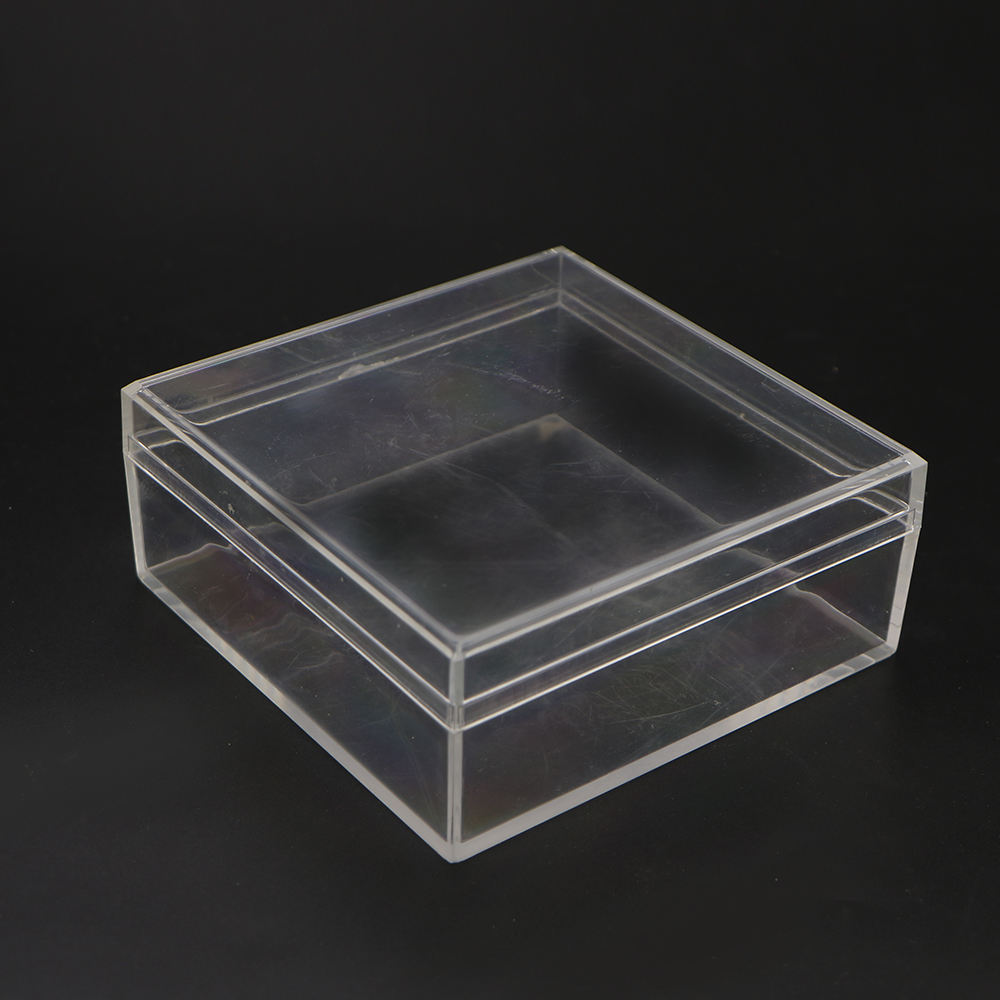 Hot sell factory new product plastic cube display clear plexiglass lucite candy box with lid acrylic food box