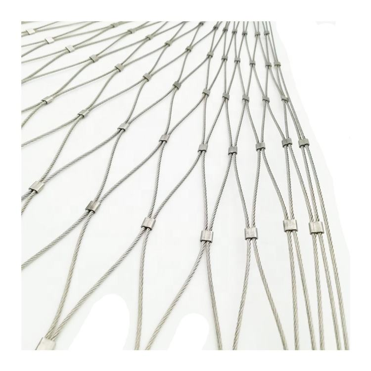 1 1.5 2 3mm diameter SUS 304 316 stainless steel wire rope mesh for backpack and bag protector
