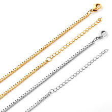 5cm Extension Stainless steel Box Chain Necklace Design Without Pendant  Chain Necklace Design In Stock