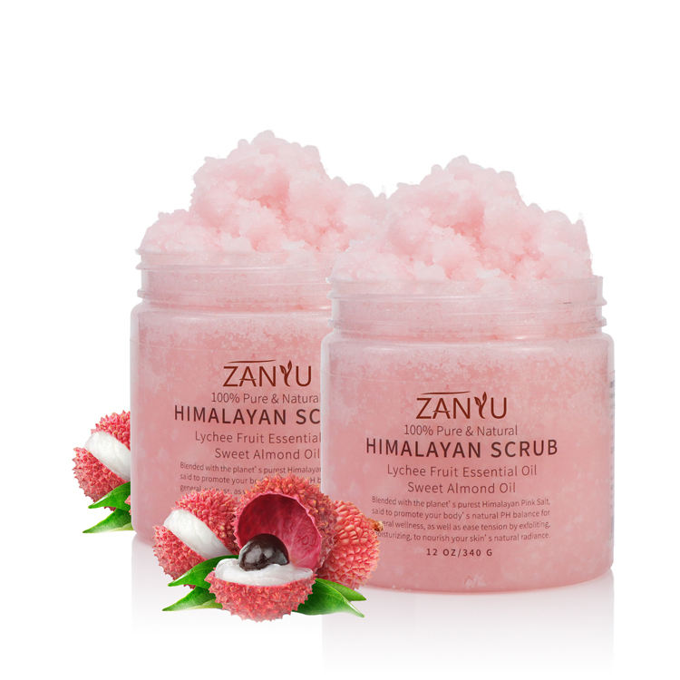 Most popular private label organic dead skin removing and skin moisturizing pink skin care body salt scrub