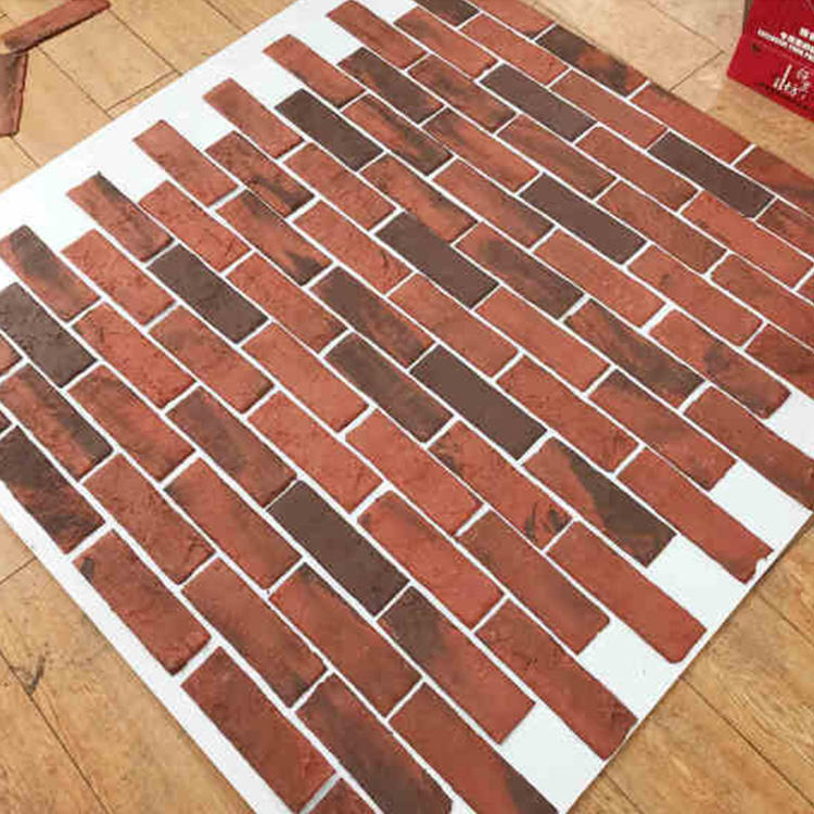 New type heat resistant exterior cladding ceramic flexible decorative wall tile/ split brick