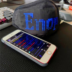 Mobile Phone APP Controlled Display Screen LED washable clot