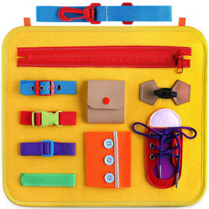 Toddler Busy Board Montessori Toys Basic Skills Board for kids Educational Toddler Buckle Toys