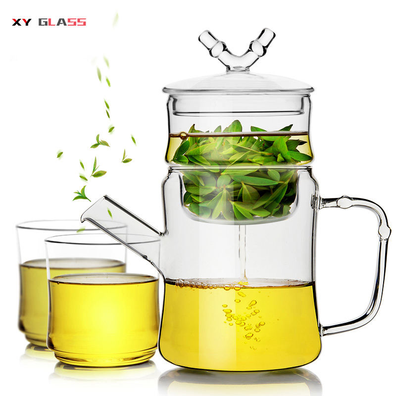 Christmas Gift Borosilicate Clear Cooking Tea Brew Glass Teapot