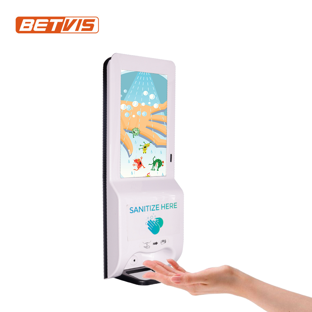 Hand sanitizer lcd digital signage with auto dispenser