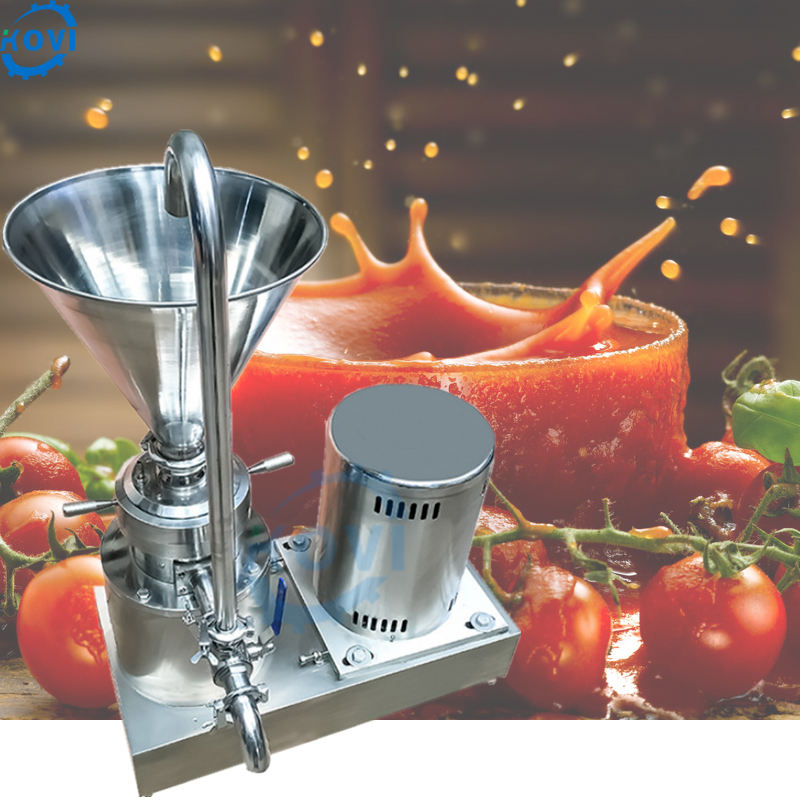chili sauce peanut butter maker machine salsa tomato paste making machine colloid mill for sale