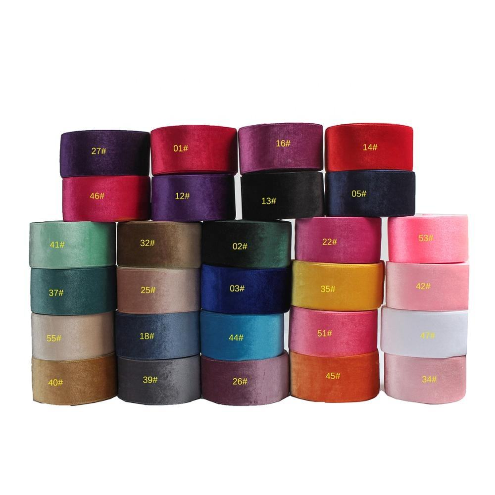 Midi Ribbons Popular New Arrival Wholesale Cinta Terciopelo Rolls Velvet Ribbon 3 Inch 75mm for Hair Bows Crafts