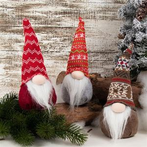 Cheerful little gnomes plush toys scandinavian yule nordic santa gnome christmas decoration