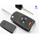Modified Replacement wholesale 3+1 buttons flip remote car key shell fob cover for car key