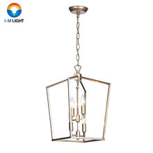 Industrial Lighting Antique Openwork Foyer Lantern 4-Light Hallway Entrance Kitchen Island Hanging Ceiling Pendant Light