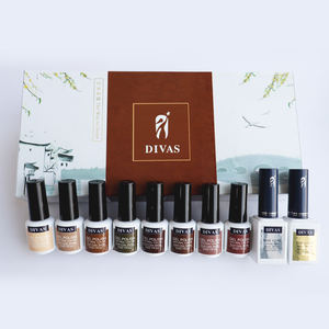 DIVAS clou conception tremper 8 couleurs gel ensemble professionnel kit de clou de gel polonais ensemble