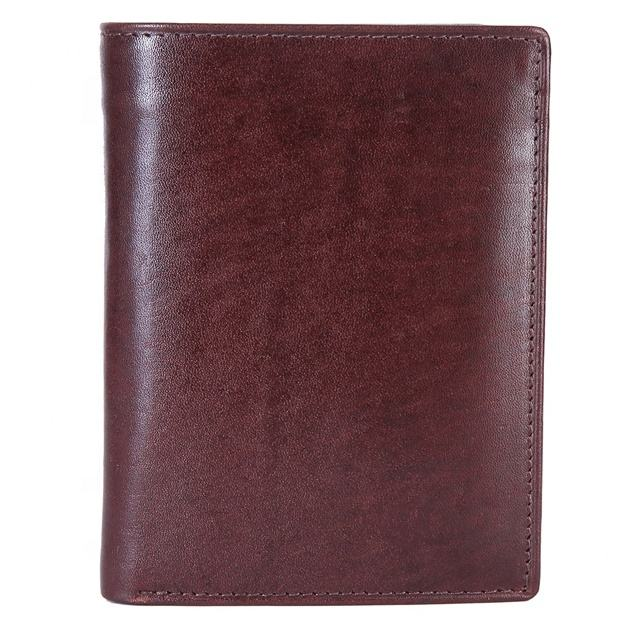 Handmade Premium Quality RFID Protected Top Grain Bifold Genuine Leather Wallet For Men With Coin Pocket Dark Brown