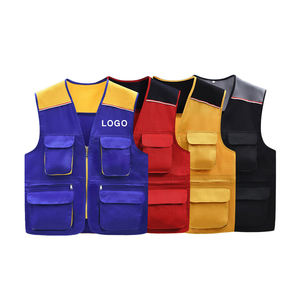 Custom work vest uniform with pockets sleeveless working tool vest