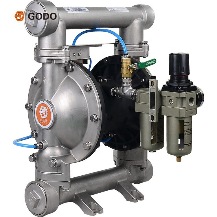 GODO QBF3-50 China powder suction pump air operated pneumatic diaphragm pumps price