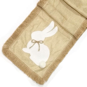 Fancy fabric modern custom burlap placemat linen Easter Table Runner