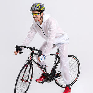 Custom made eco-friendly high quality pvc Vinyl waterproof plastic motorcycle rain wear suit as jacket and trouser