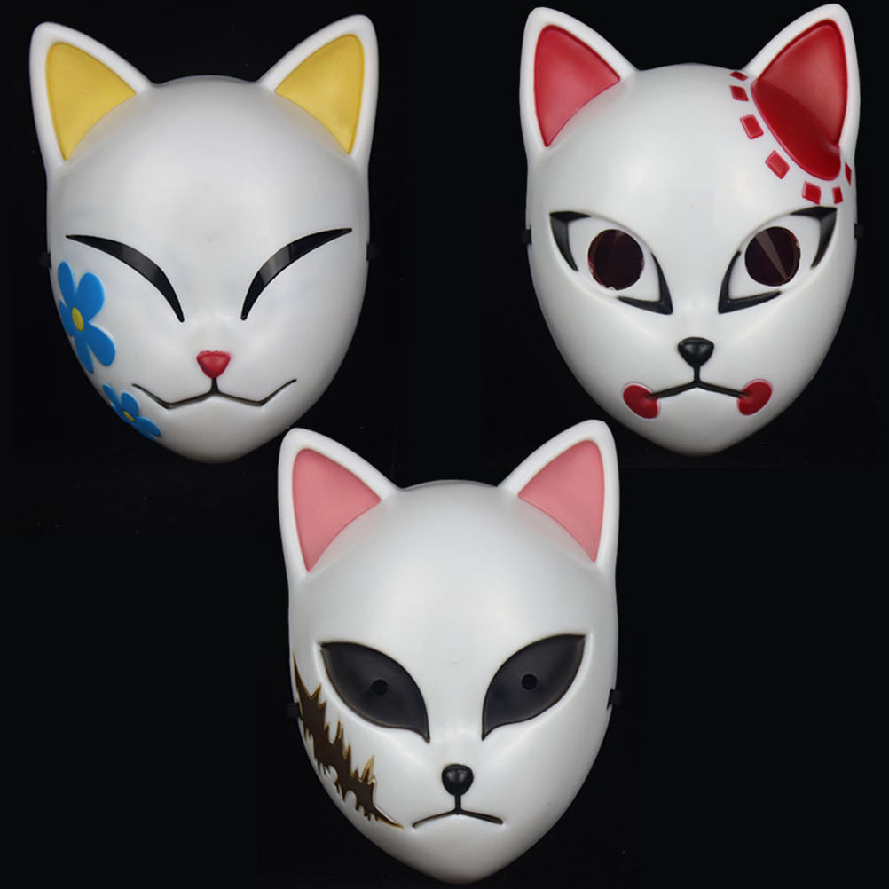 Di alta Qualità di Stile Giapponese <span class=keywords><strong>Anime</strong></span> Demone Maschera Cosplay Maschera Per <span class=keywords><strong>Halloween</strong></span> Costume Party Prop
