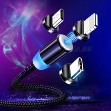 Magnet Charger USB Type C Cable Mobile Phone Cord Wire Magnetic Micro USB Cable For iPhone Samsung Android Fast Charging