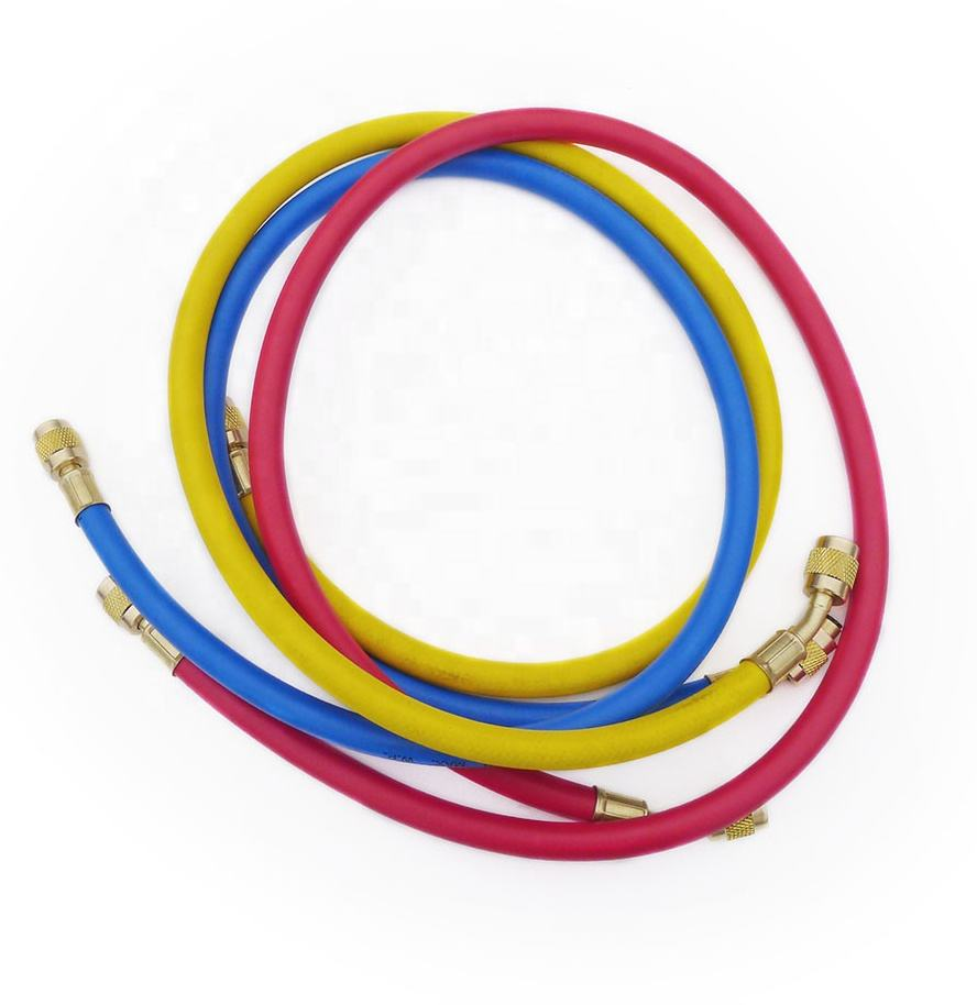 CT-360A Manifold gauge air conditioner refrigerant Refrigeration freon Red yellow blue Rubber R22 R134 R410 Charging hose