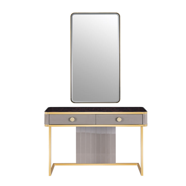 Hot Sale Easy Modern Design Wooden Dressing Table Customized Makeup Dresser With Mirror
