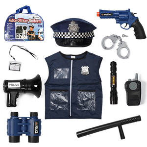 Career uniform role play kids dark blue color policeman police set toy play