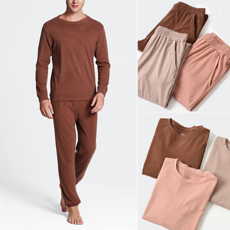 Customized breathable men clothes home leisure suit mens organic bamboo fiber pajamas