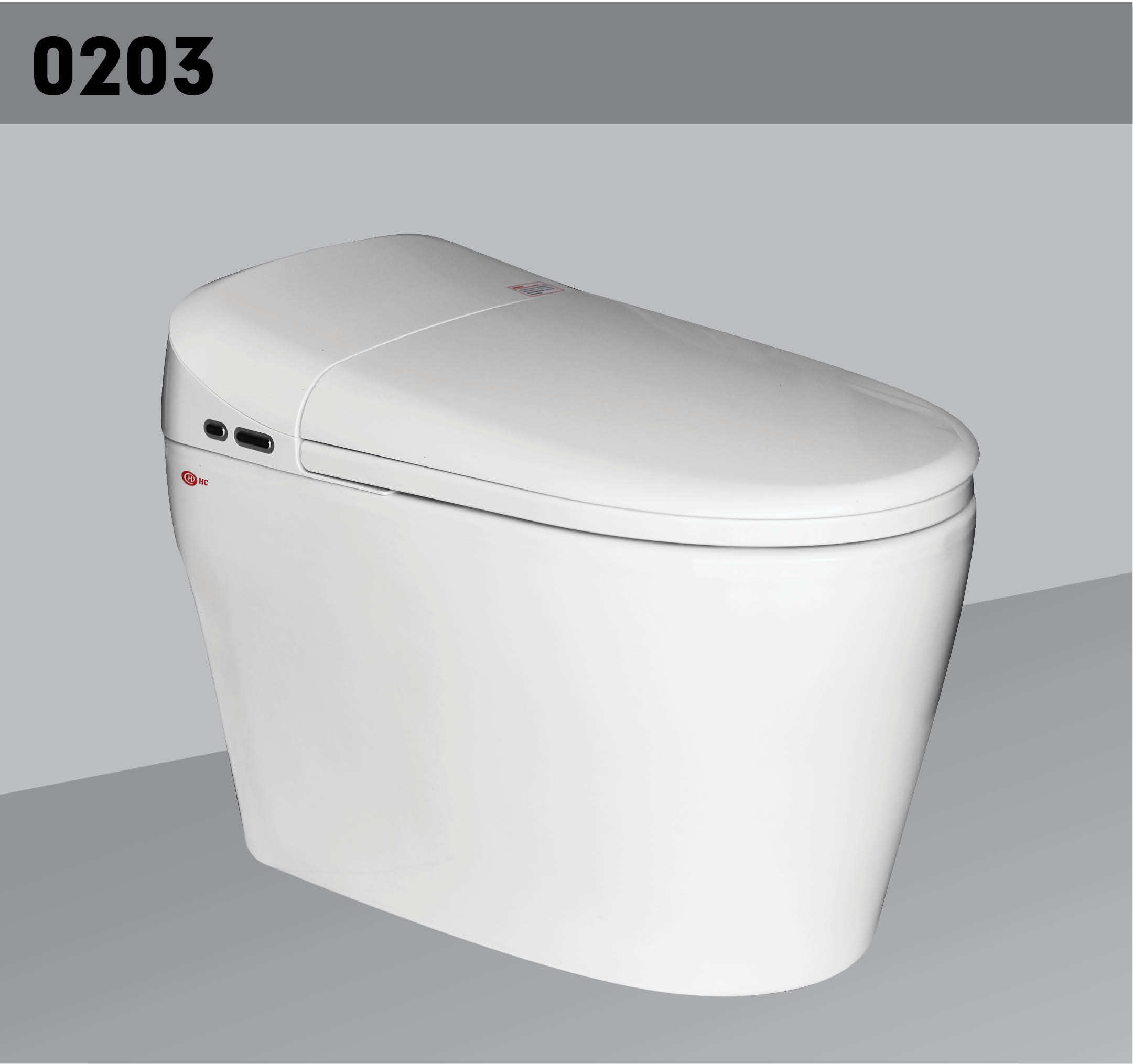 One Piece Smart Toilet With Automatic Toilet Seat , Viet Nam Ms Quyen: Whatsapp/ Wechat/ Mob: +84 936 991 094