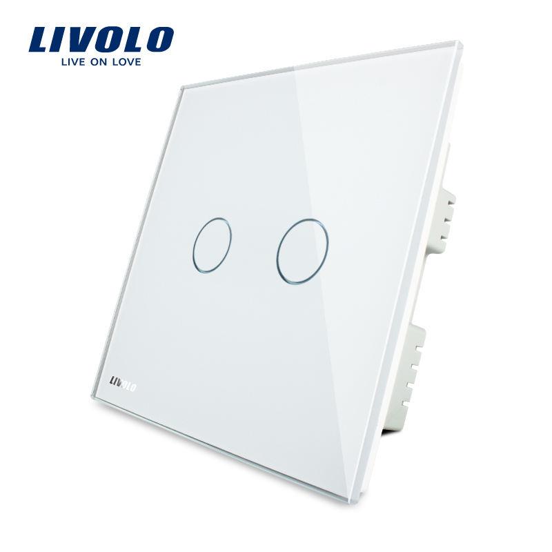 Livolo 2 1 modo de estilo moderno de lujo tipo <span class=keywords><strong>casa</strong></span> interruptor de pared VL-C302-61