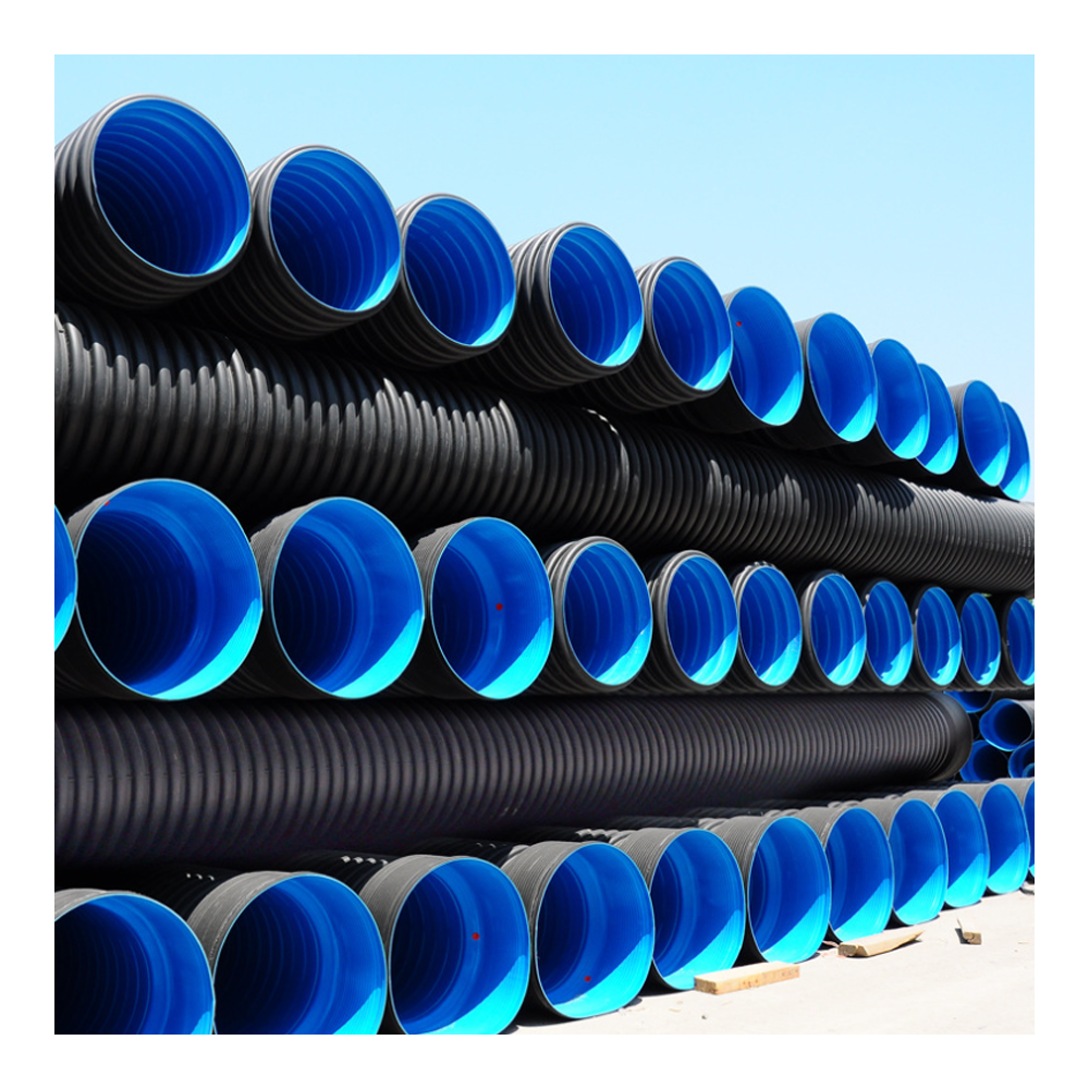 "140 250 315 450 China Manufacture Pe Green Plastic Drain 24"" Specs With High Quality Flat Rubber Tube 9 Inch Pvc Hdpe Pipe"