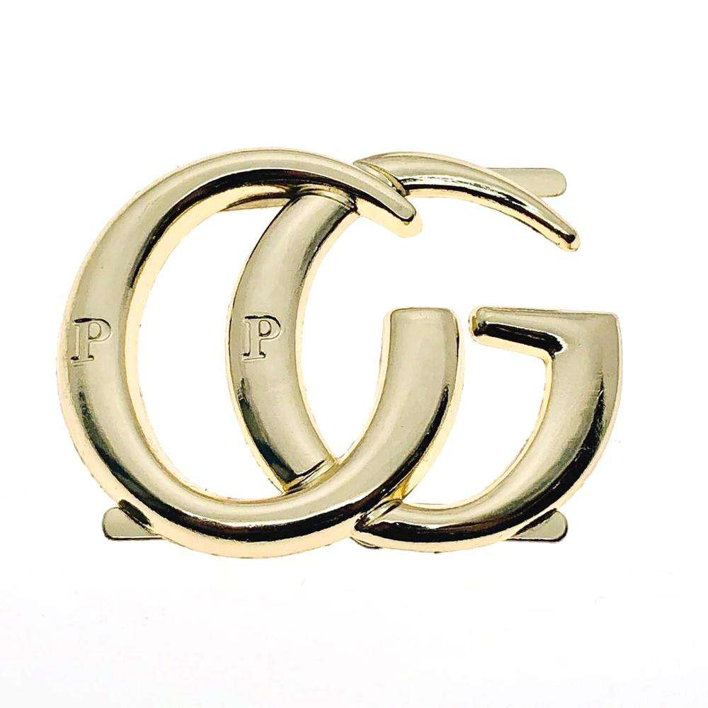 OEM custom logo fashion metal plate label plating zinc alloy metal letter label tag for bags